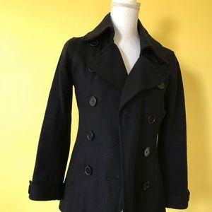 Size 4 black pea coat jacket